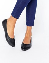 New Look Leather Point Ballet Pump