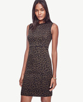 Ann Taylor Spotted Jacquard Sheath Dress