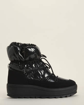 Pajar Black Taya Crystal Fleece-Lined Snow Boots
