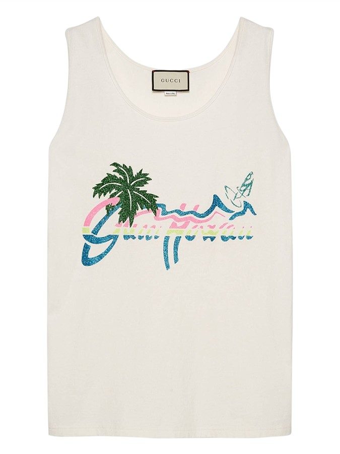 Thumbnail for your product : Gucci Hawaii Print Tank Top