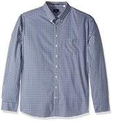 Gant Men's The Poplin Gingham Check Long Sleeve Regular Fit Casual Shirt,