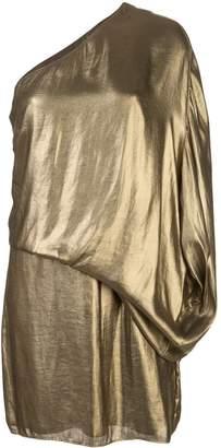 Halston draped design cocktail dress