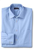 Lands' End Men's Regular Long Sleeve Straight Collar Tonal Stripe Shirt-Light Sea Blue