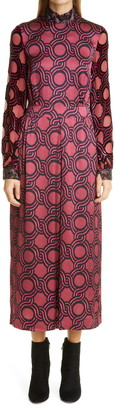 Dries Van Noten Bead Embellished Long Sleeve Dress
