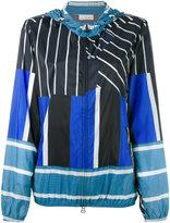Pierre Louis Mascia Pierre-Louis Mascia - multi-stripe hooded jacket - women - Polyamide - S