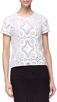 Burberry Short-Sleeve Lace Shirt