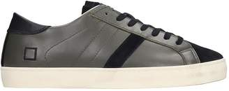 D.A.T.E Hill Low Sneakers In Green Suede And Leather