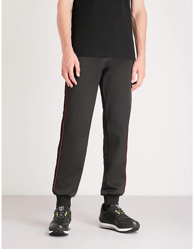 Givenchy Velvet-trim sports-jersey jogging bottoms