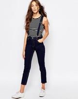 Pull&Bear Skinny Suspenders Jeans