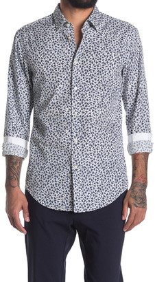 HUGO BOSS Ronni Trim Fit Geo Printed Shirt