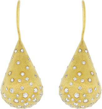 Todd Reed Diamond Teardrop Earrings