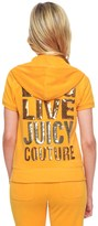 Juicy Couture Logo Terry Long Live Jc Short Sleeve Jacket
