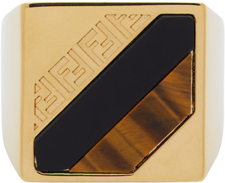 Fendi Gold Forever Signet Ring