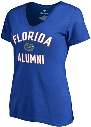 Women's Fanatics Branded Royal Florida Gators Team Alumni V-Neck T-Shirt