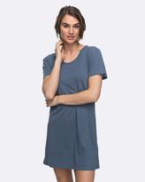 Roxy Womens Just Simple Solid T Shirt Dress