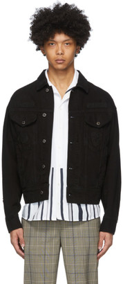 Neil Barrett Black Denim Patch Jacket