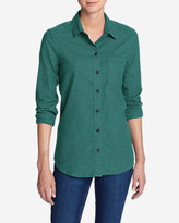 Eddie Bauer Women's Stine's Favorite Flannel Shirt - One-Pocket Boyfriend - Heather