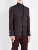 Armani Collezioni Checked slim-fit wool jacket