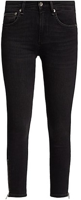 Rag & Bone Cate Mid-Rise Ankle Skinny Jean With Zips