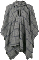 Balenciaga windowpane check poncho - women - Cashmere/Wool - One Size
