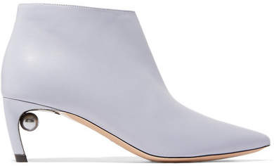 Nicholas Kirkwood Mira Leather Ankle Boots - Lilac