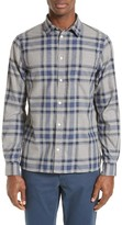 Norse Projects Men's Hans Brushed Check Sport Shirt