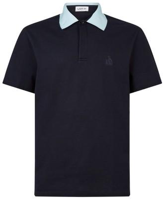 Lanvin Contrast-Collar Polo Shirt