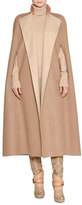 Agnona Double-Face Cashmere Cape w/Fur Collar