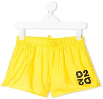 DSQUARED2 D2 logo swim shorts