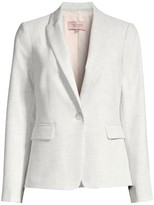 Rebecca Taylor Tailored Clean Linen-Blend Suiting Jacket