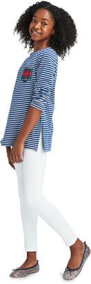 Vineyard Vines Girls' Striped Sweatshirt Tunic With Merry Plaid Pocket
