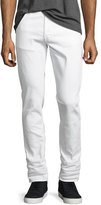 Nudie Jeans Lean Dean Stretch-Denim Skinny Jeans, White