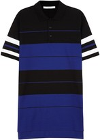 Givenchy Striped Piqué Cotton Polo Shirt