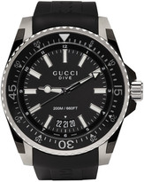 Gucci Black & Silver XL Dive Watch