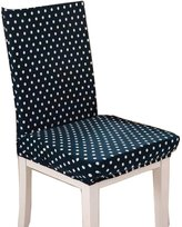 Black Temptation [Dot] Fashion Dining Chair Slipcovers Covers for Chair