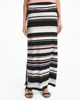 White House Black Market Stripe Knit Convertible Maxi Skirt