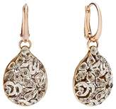 Pomellato Arabesque Earrings with Brown Diamonds in 18K Rose and White Gold