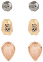 Kenneth Cole New York Blush Stone Triple Stud Earring Set Set of 3
