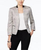 Nine West Tweed Open-Front Jacket