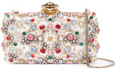 Alexander McQueen satin ribbon embellished clutch - women - Leather/Satin Ribbon - One Size