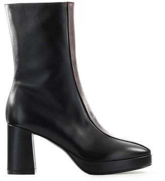Strategia Black Burgundy Ankle Boot