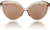 Linda Farrow Lucite Cat Eye Sunglasses