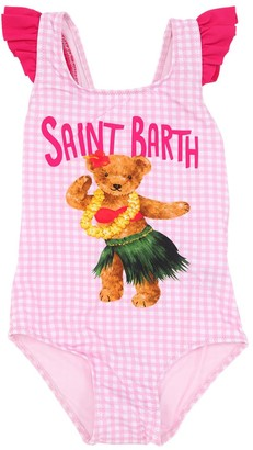 MC2 Saint Barth Bear Print Lycra One Piece Swimsuit