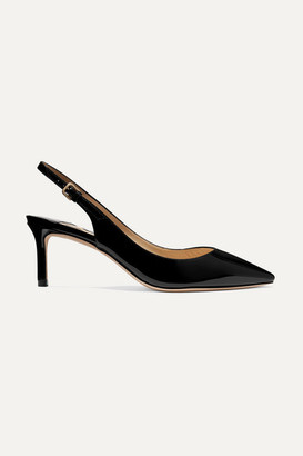 Jimmy Choo Erin 60 Patent-leather Slingback Pumps - Black