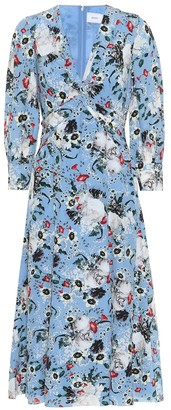 Erdem Elaina floral silk midi dress