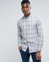 Farah Dylan Check Shirt Slim Fit Concealed Buttondown in Navy