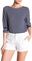 Anne Klein 3/4 Length Sleeve Stripe Shirt