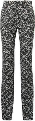 Calvin Klein Printed Cotton-twill Straight-leg Pants