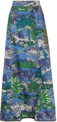 Le Sirenuse All-Over Print Skirt