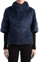 Gorski Chevron Mink Fur Topper Jacket